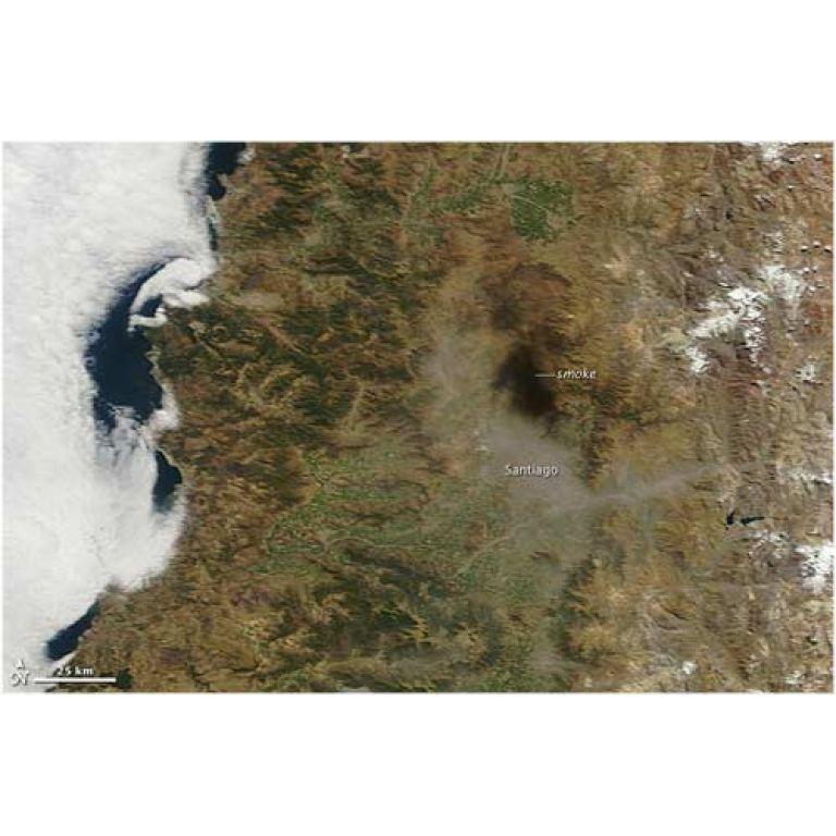 El terremoto chileno modificó el eje de la Tierra.