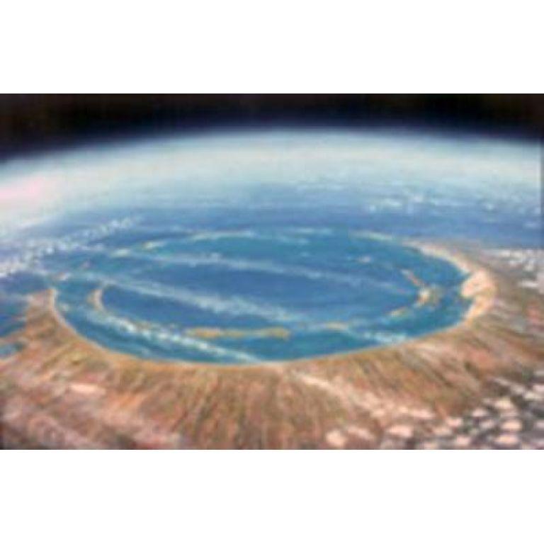 El lugar donde ocurrió el impacto profundo
