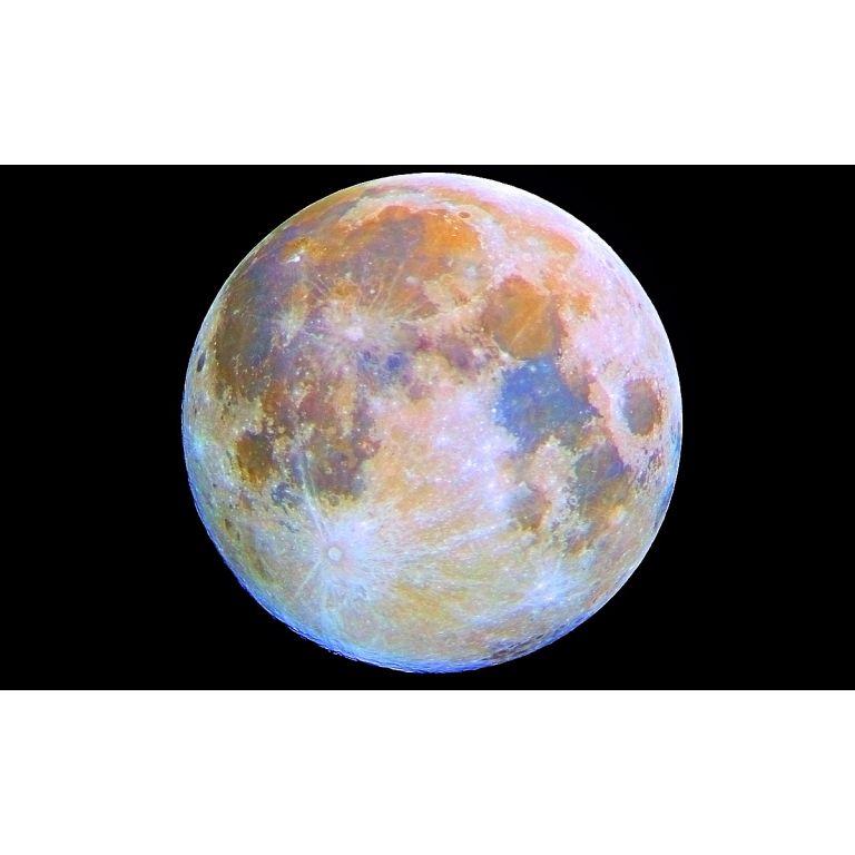 """Nuevo mapa lunar revela que la luna está """"llena de colores"""""""