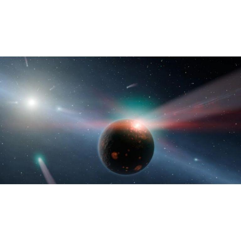 El Telescopio Espacial Spitzer detectó una tormenta de cometas sobre otro sistema solar