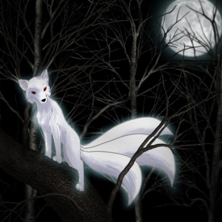 Kitsune, el zorro mistico japones.