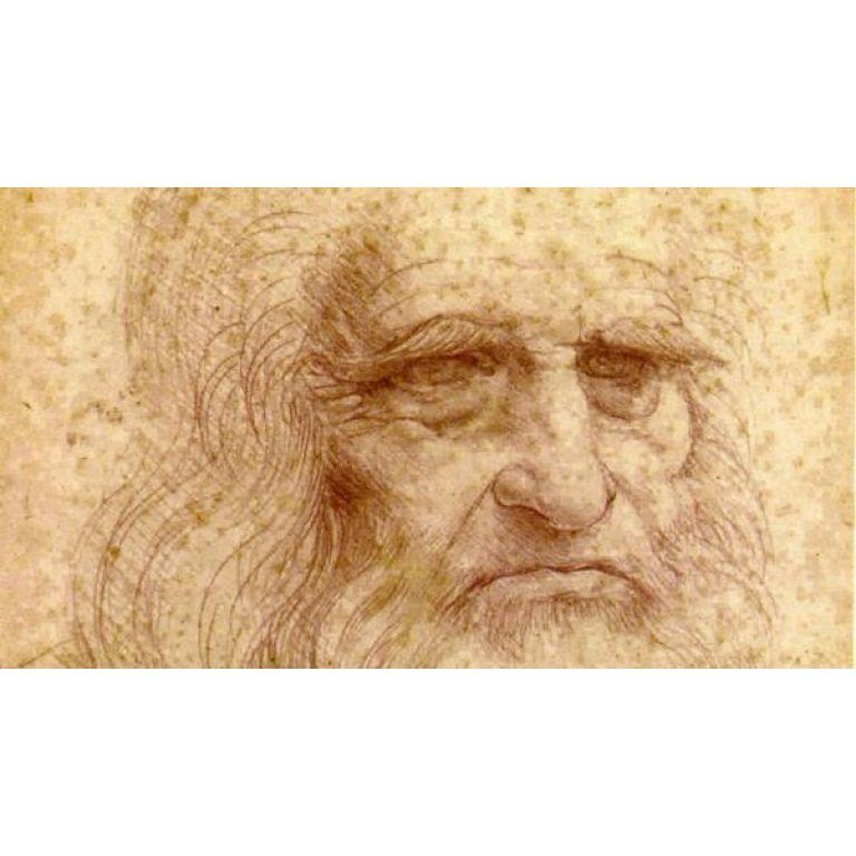Está desapareciendo del papel el autorretrato de Da Vinci