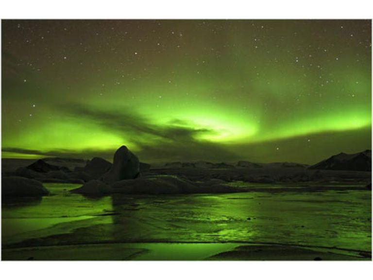 Maravillosa fotografía de la aurora polar.