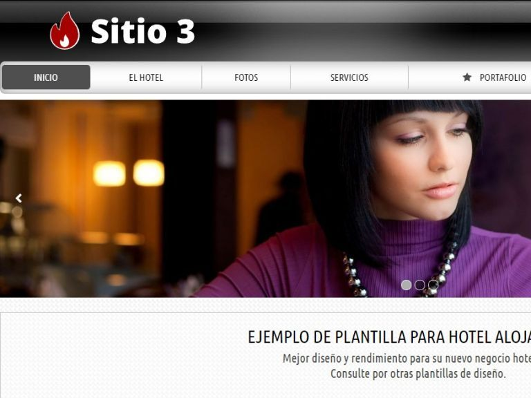 HOTEL 3 . Web design template for hotels