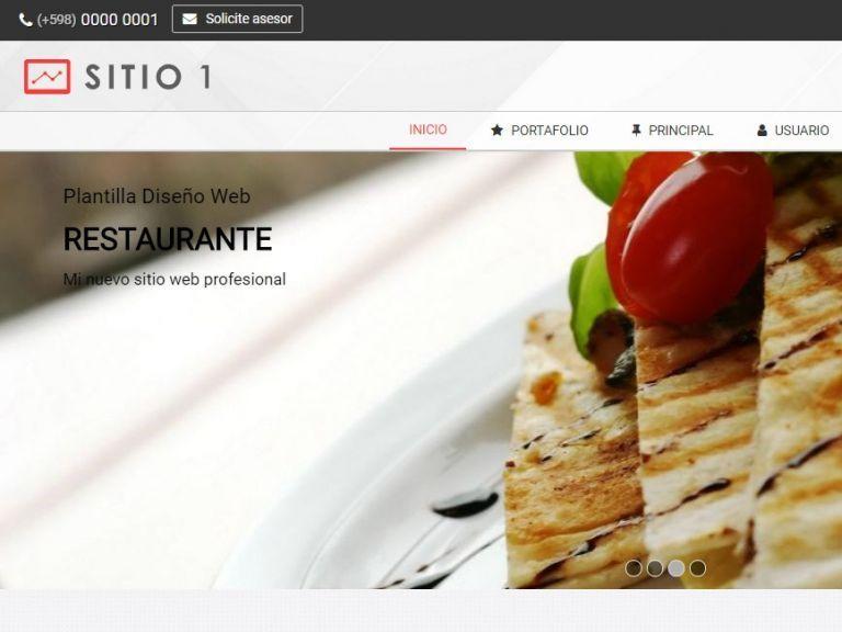 RESTAURANT 1 . Web design template for restaurants