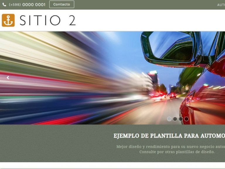 CARS 2 . Web design template for car sales or rental