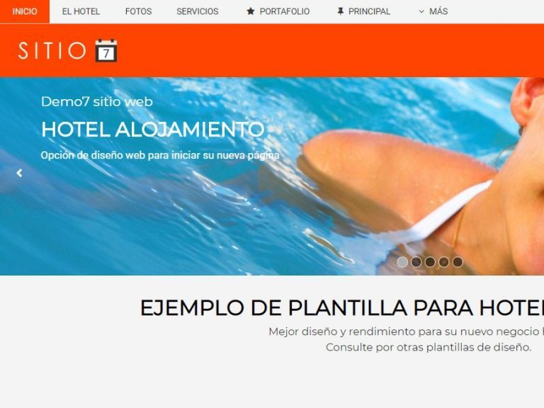 HOTEL 7 . Web design template for hotels