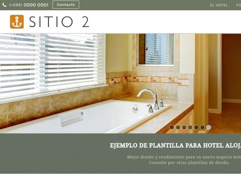 HOTEL 2 . Web design template for hotels