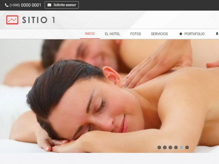 HOTEL 1 . Web design template for hotels