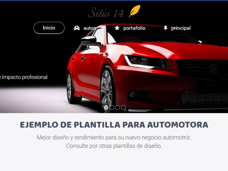 CARS 14 . Web design template for car sales or rental