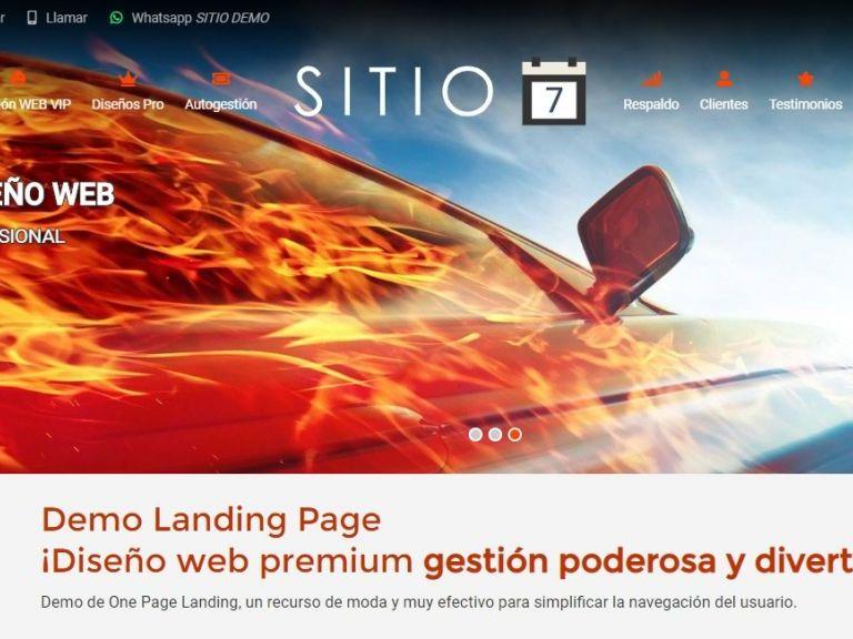 LANDING7 . Web landing page, diseño ejemplo profesional
