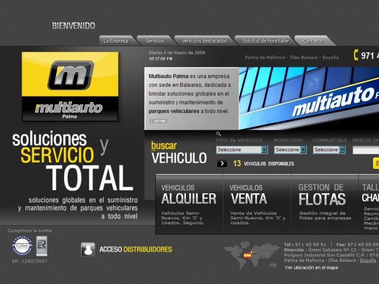 Diseño de proyectos de internet e imagen global. - Multiauto Palma de Mallorca