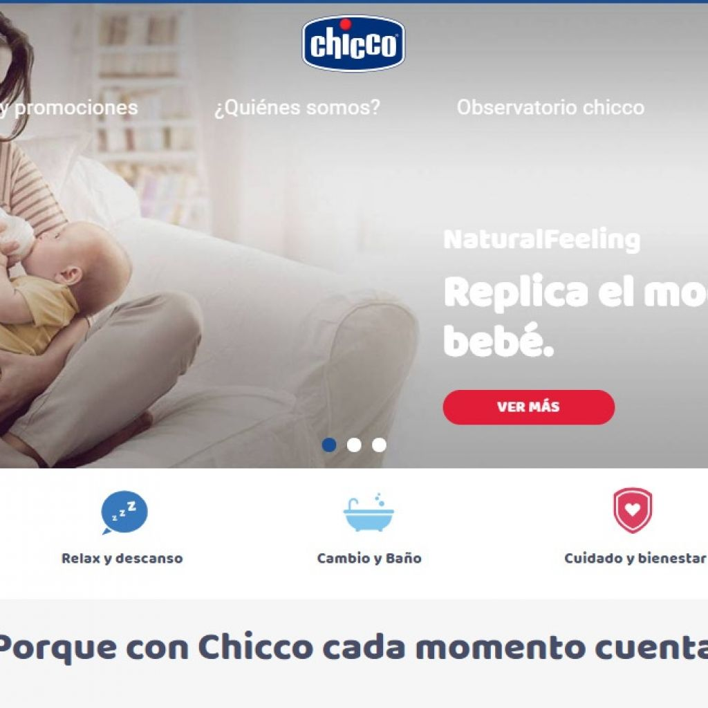 Tienda productos Chicco para bebés e infantes