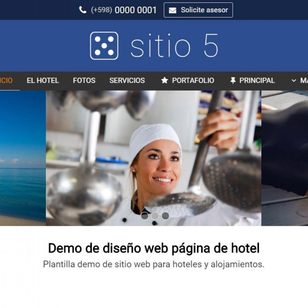 Ejemplo de diseño para armado de página web de hotel alojamiento.