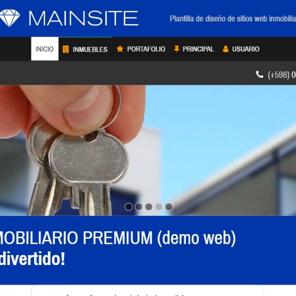 Diseño web inmobiliaria online.