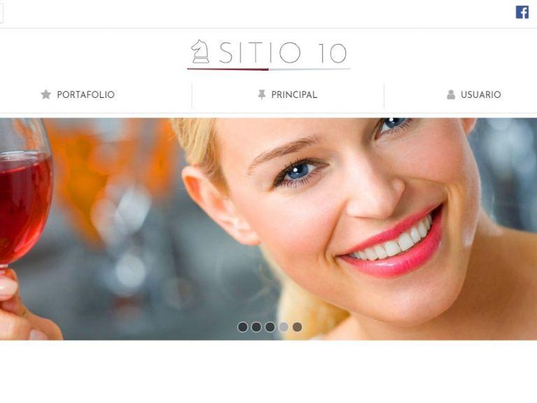 Ejemplo de sitio web para hotel alojamiento. Plantilla de diseño profesional 10. - HOTEL 10 . Diseño sitio web institucional