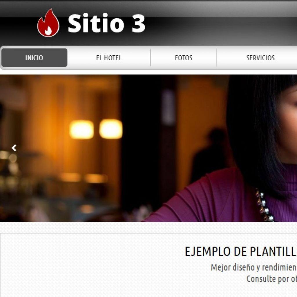 Diseño sitio web institucional para hotel alojamiento.