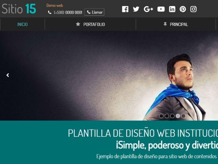 Institucional 15, plantilla de diseño web de calidad. - INSTITUCIONAL 15 . Diseño sitio web institucional