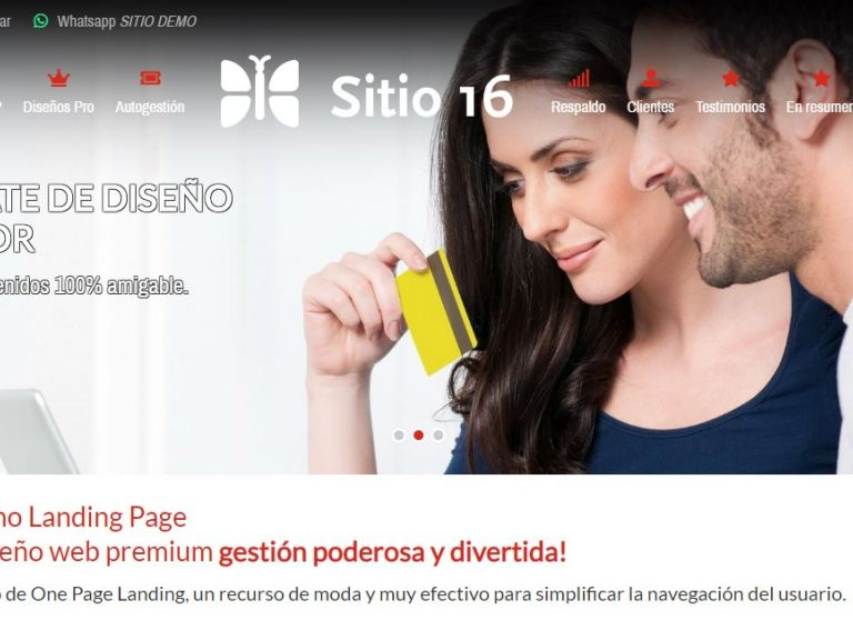Modelo de diseño web para crear landing page. - LANDING 16 . Diseño web landing page