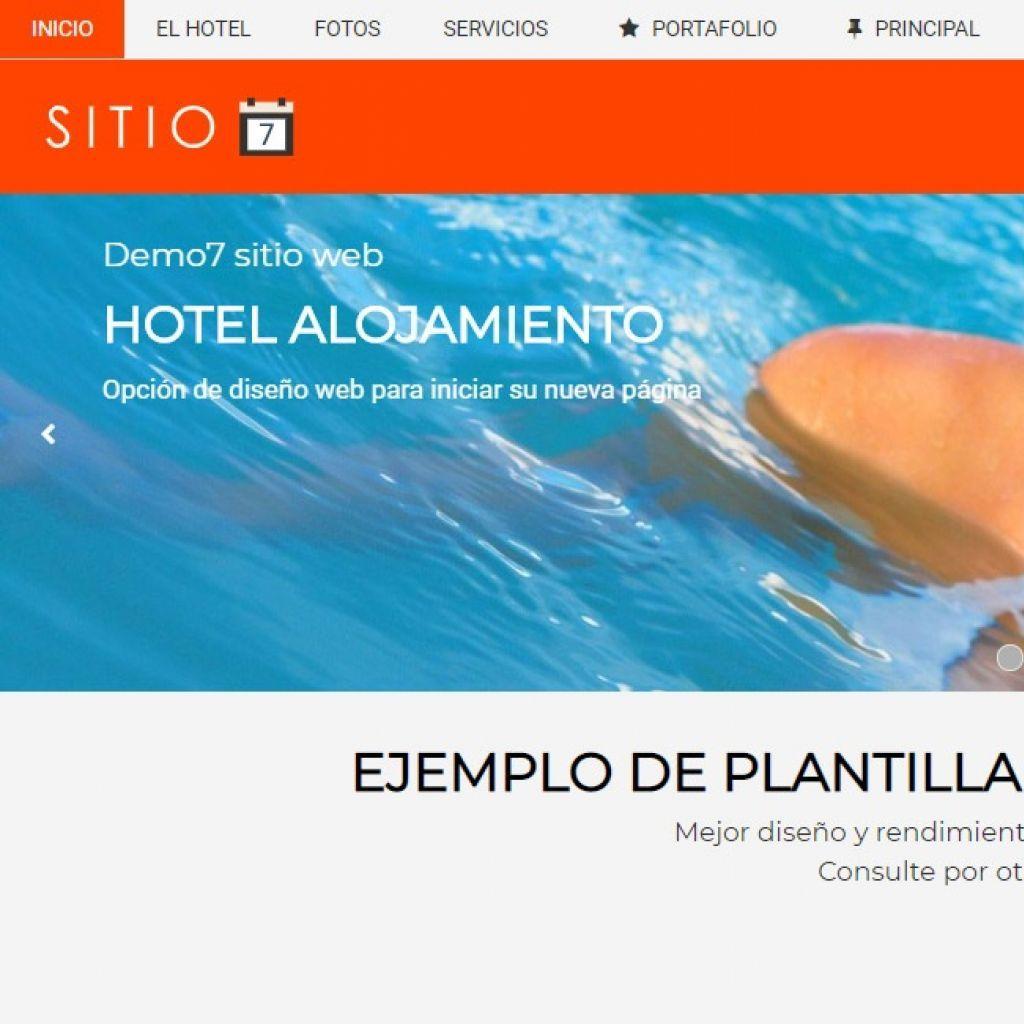Template de diseño web hotel #7.