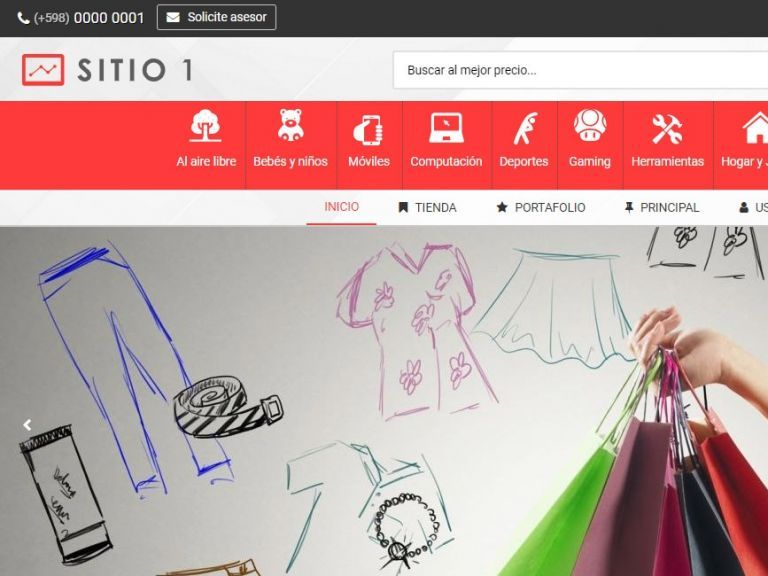 Template de diseño web para iniciar su nueva tienda virtual. - TIENDA 1 . tienda virtual
