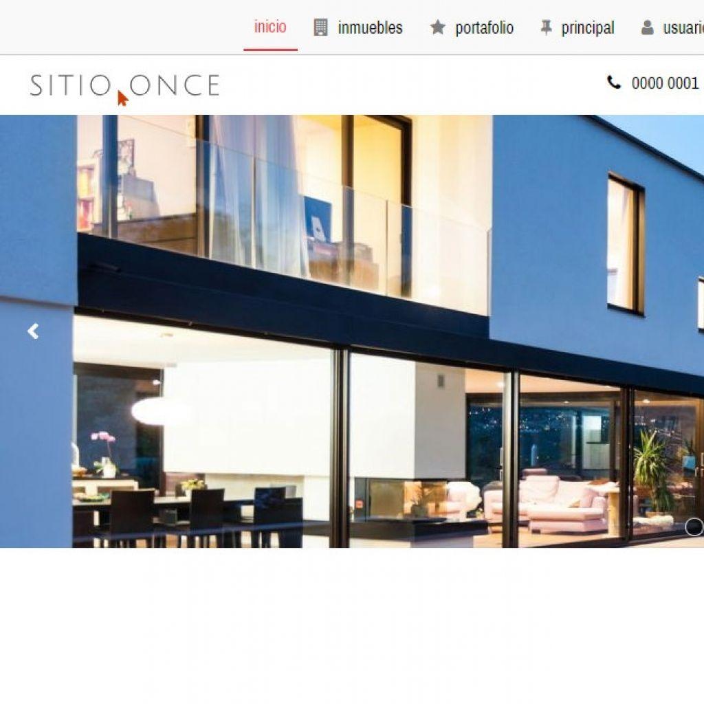 Template profesional para implementación para inmobiliaria online.
