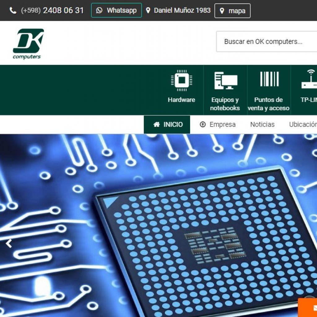 Diseño de sitio web tienda de venta de hardware y productos de computación, con calidad profesional.