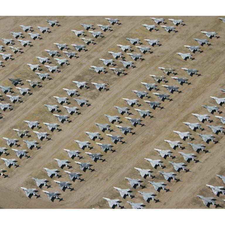 AMARC, el mayor cementerio de aviones del mundo.