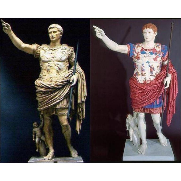 Se sacan los colores a antiguas estatuas romanas
