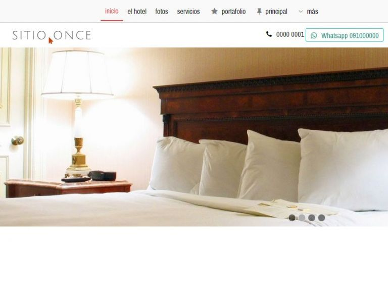 Demo 11 de diseño template de sitio web institucional. Página web profesional autogestionable. - HOTEL 11 . Diseño sitio web institucional