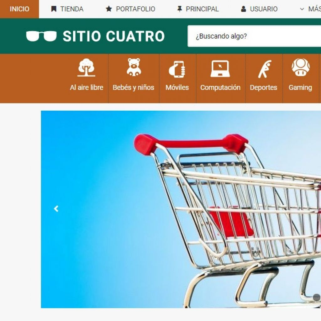 Plantilla de diseño demo4 para iniciar su tienda virtual con ecommerce.