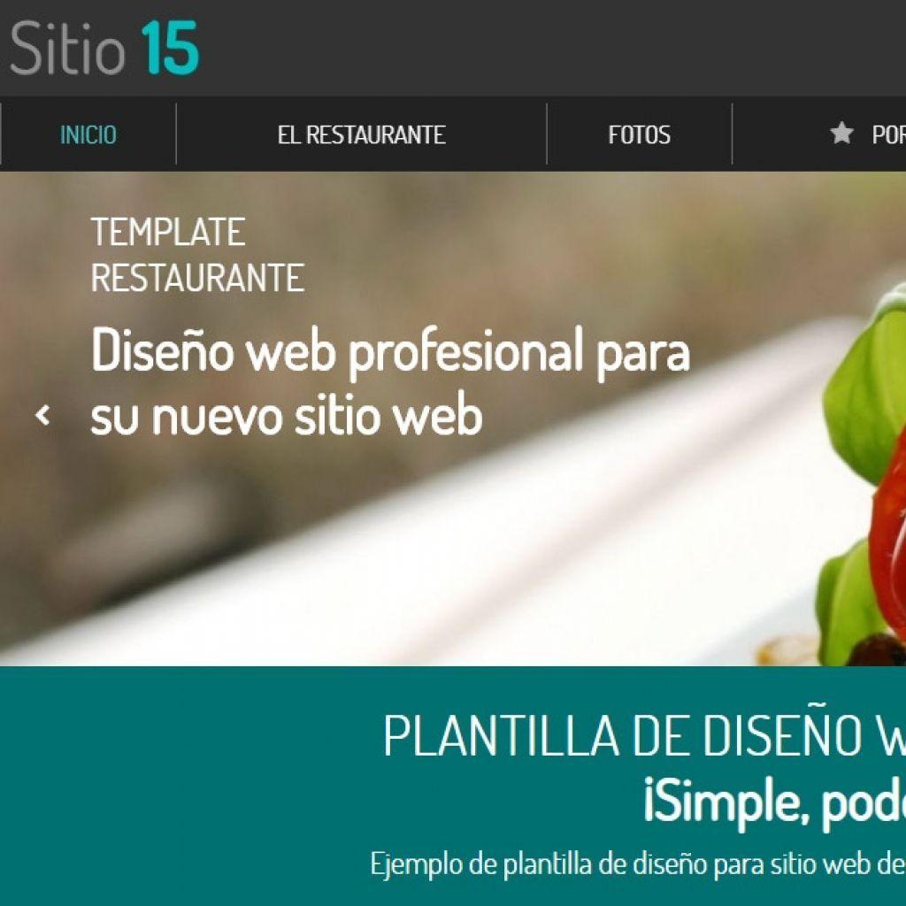 Demo de diseño web profesional para restaurante. Template 15.