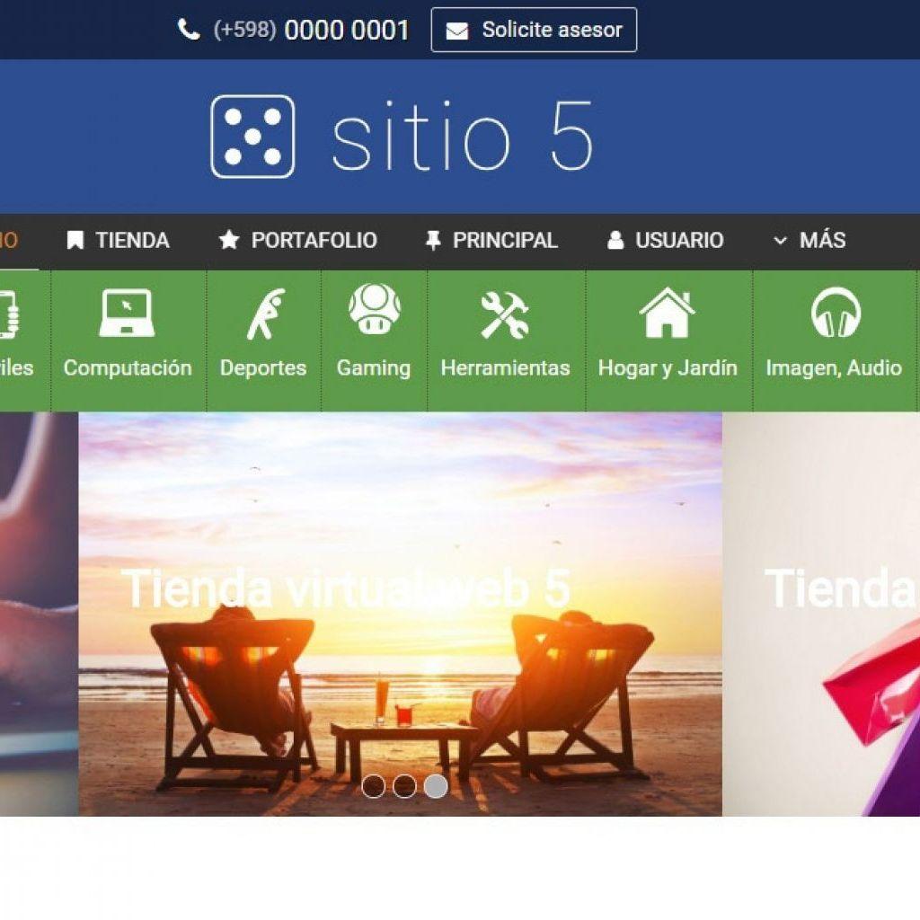 Demo de diseño web para tienda online de productos con ecommerce