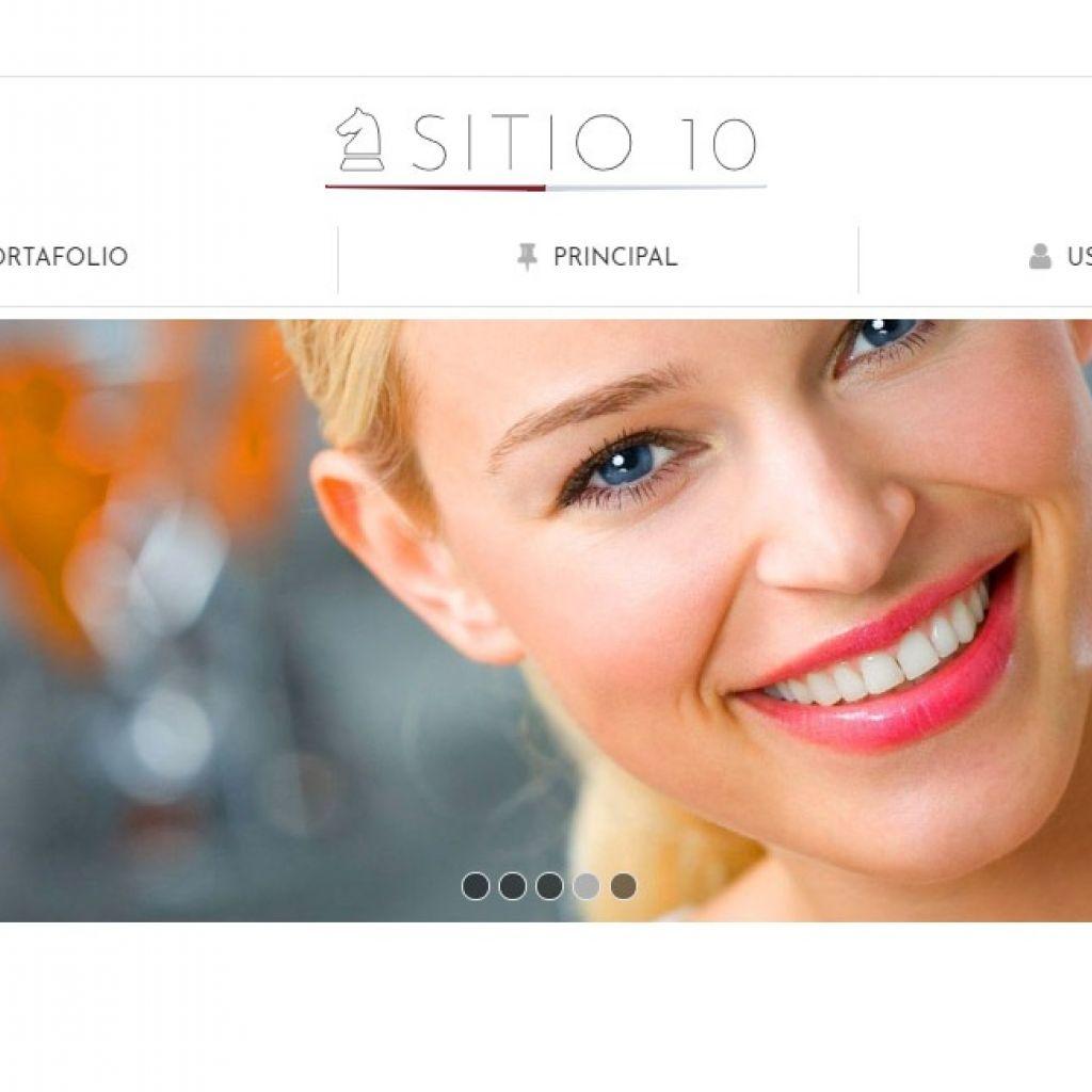 Template de diseño web para restaurante con autogestión de contenidos.