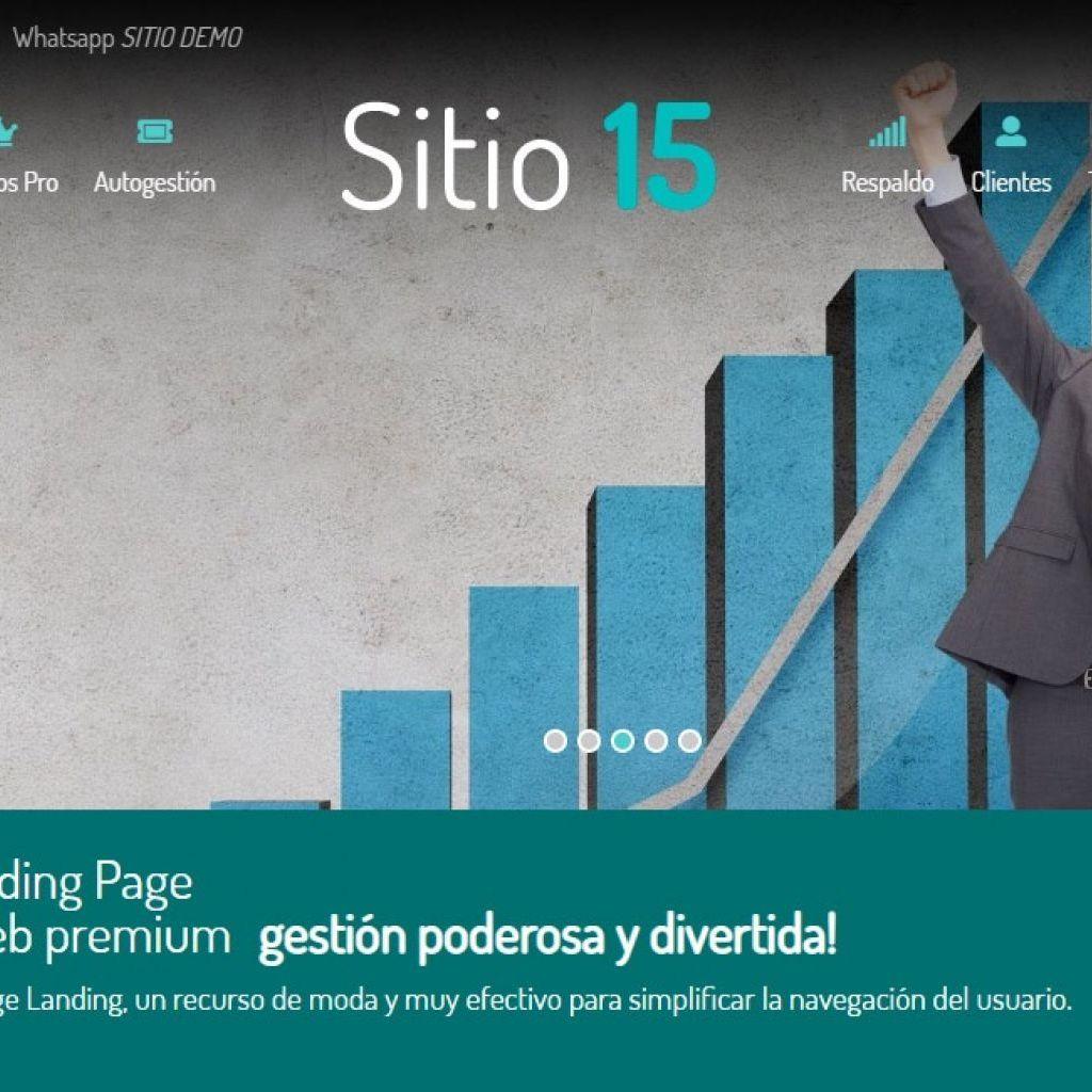 Ejemplo diseño web one page landing web.