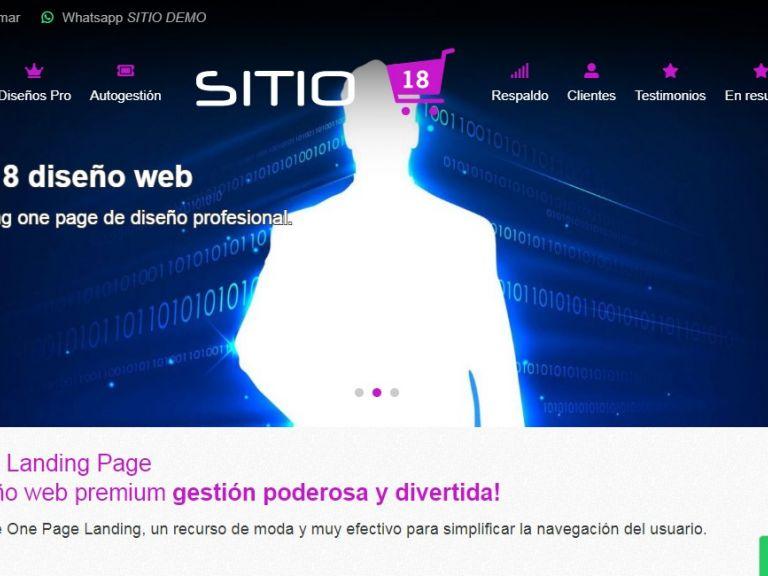 Ejemplo one page landing (una página sola). - LANDING 18 . web landing one page opción de diseño