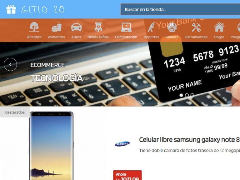 Ejemplo tienda virtual web 20. - TIENDA 20 . tienda virtual