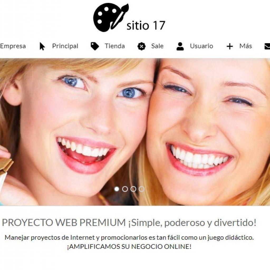 Ejemplo de diseño plantilla 17 tienda comercio electrónico.