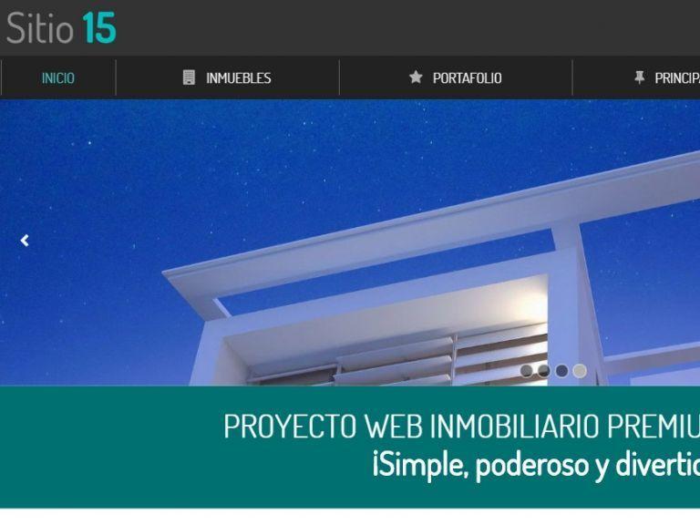 Inmobiliario 15, sitio demo de diseño web plantilla. - DEMO 15 . Sitio web inmobiliaria