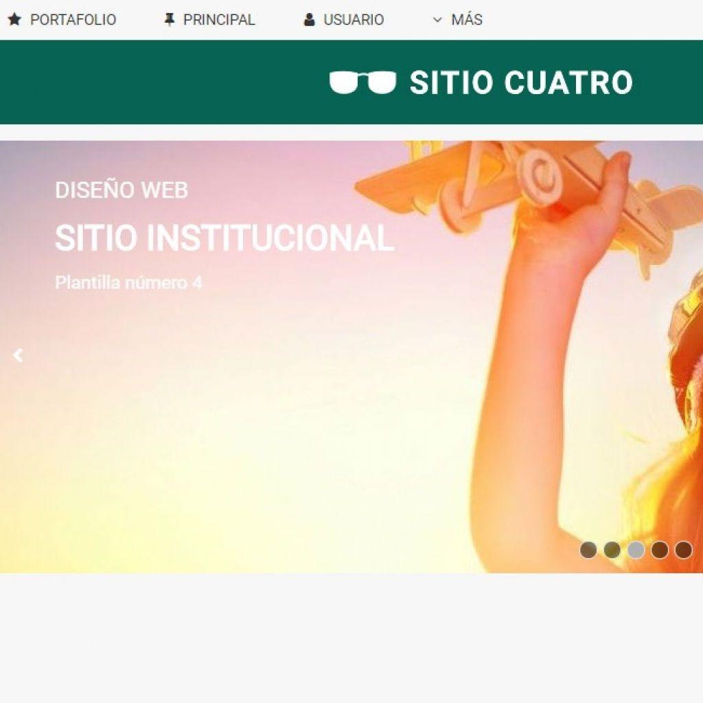 Template de diseño listo para usar en sitio web institucional.
