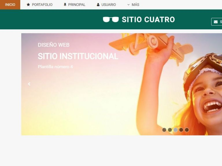 Template de diseño listo para usar en sitio web institucional. - INSTITUCIONAL 4 . Diseño sitio web institucional