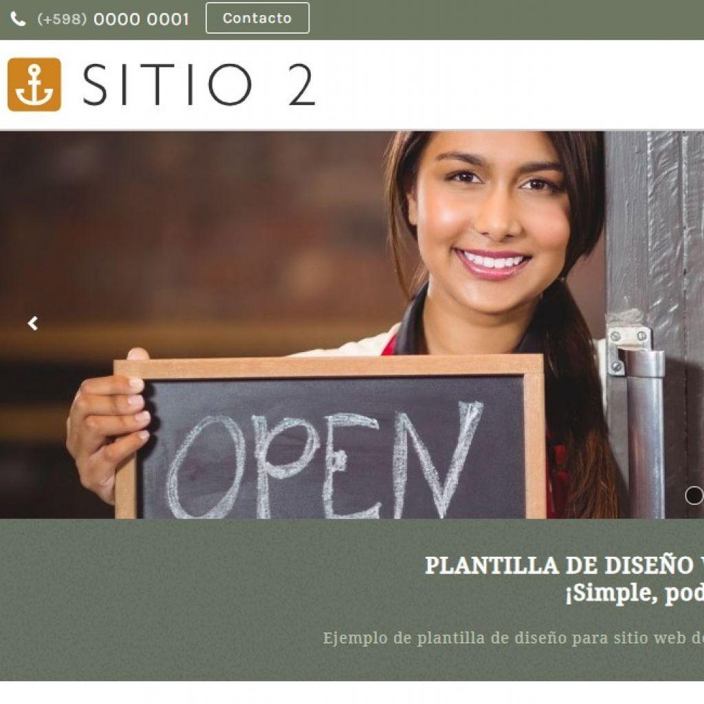 Ejemplo de diseño web plantilla para restaurante.