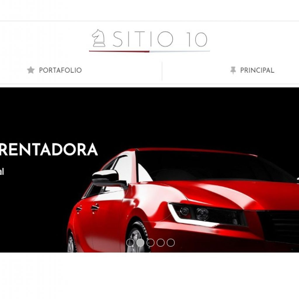 Diseño de sitio web para automotores rentadora, plantilla número 10.