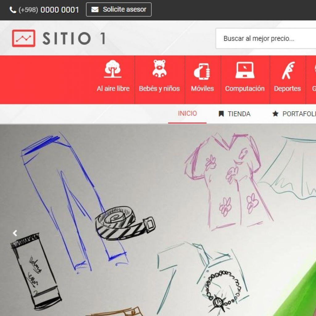 Template de diseño web para iniciar su nueva tienda virtual.
