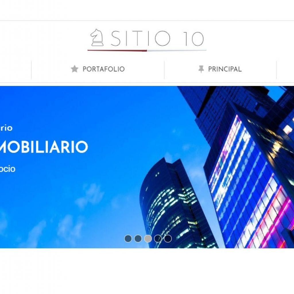 Demo de diseño web inmobiliario y software.