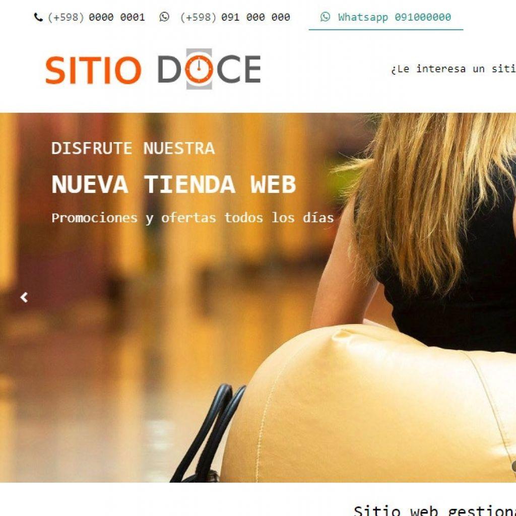Template de diseño web 12 para tienda de comercio electrónico con carrito virtual.